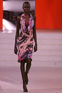 mathew williamson Pollock Drip Painting  fall 2001 alek wek