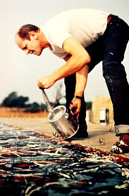 Pollock zapatos expresionismo abstracto drip painting