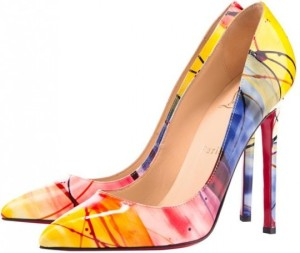 Pigalle Louboutin Pollock Drip painting
