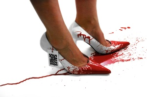sales spree splattered shoes Action painting Surrealism