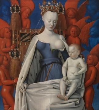 La Virgen con ángeles y el niño Jean Fouquet