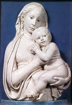 Madonna de las manzanas Luca della Robbia