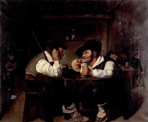 Copia de escena vasca realizada por Miguel de Unamun. Casa Museo Unamuno