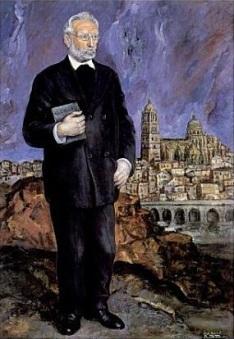 Retrato de Unamuno realizado por José Aguiar a.1934, Casa Museo Unamuno