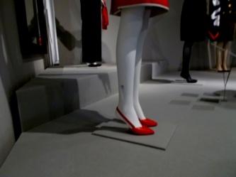 Detalle de los zapatos de los maniquíes: un acierto total.