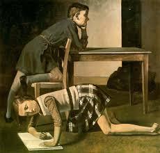 """""""Los niños Blanchard"""", Balthus (1937). Musée National Picasso"""